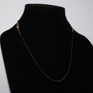 """Vintage gold adjustable necklace 14-28"""""""